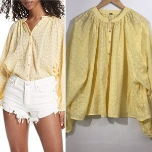 Free People Down from the Clouds yellow eyelet Sm